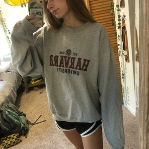 Champion gray Harvard sweatshirt